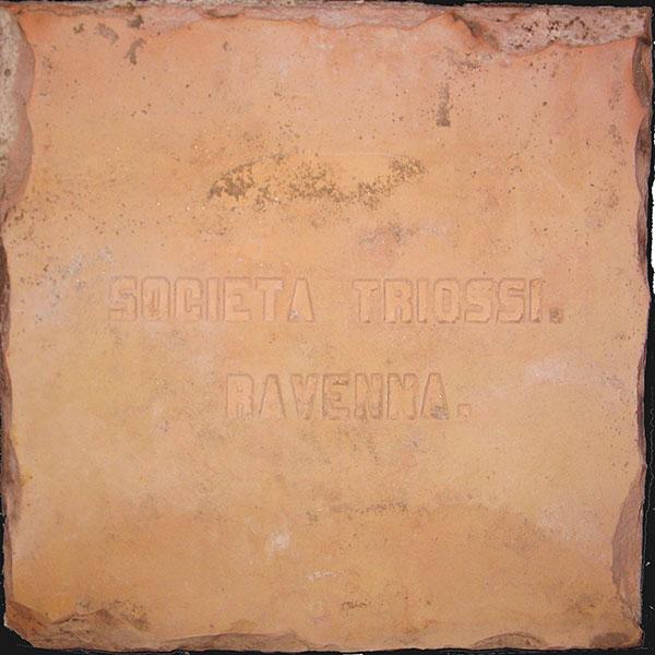 piastrella dell'antica fornace Triossi di Ravenna